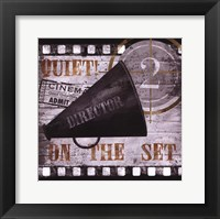 Quiet on the Set Framed Print