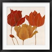 Framed Austin's Tulips II