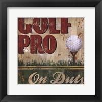 Framed Golf Pro