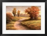 Autumn Lane II Framed Print
