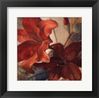 Crimson Fleurish I Framed Print