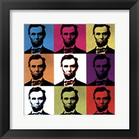 Framed Abraham Lincoln - colored tiles