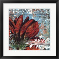 Graffiti Gerbera Framed Print