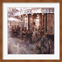 Framed Cafe de Flore, Paris