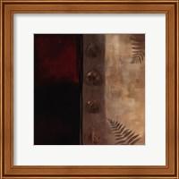Framed Russet Fern I