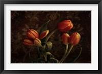 Framed Fleur de lis Tulips