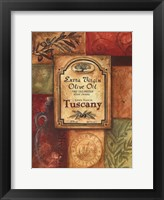 Framed Tuscan Olive Oil
