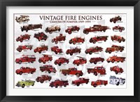 Framed Vintage Fire Engines
