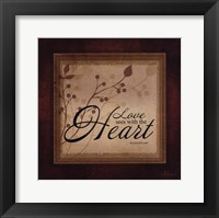 Framed Love See With The Heart