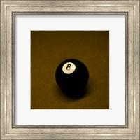 Framed 8 Ball on Brown