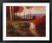 Framed Autumn River in Tuscany