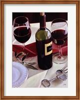 Framed Sharing Wine - Red