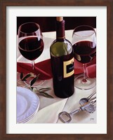 Framed Sharing Wine - Red