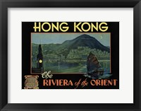 Framed Hong Kong - Riviera of the Orient