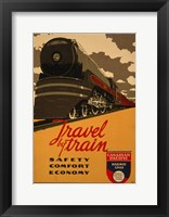 Framed Canadian Pacific - Travel by Train