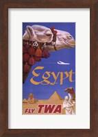 Framed Egypt - Fly TWA