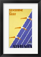 Framed Australia - Sunshine and Surf