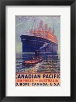 Framed Canadian Pacific - Empress of Australia