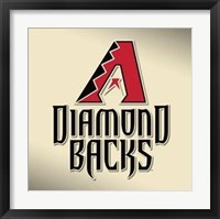 Framed Arizona Diamondbacks - Logo 2009