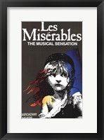 Framed Les Miserables (Broadway) - style A