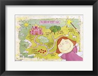 Map of Fairy Island Framed Print