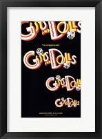 Framed Guys and Dolls (Broadway) - style A