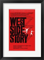 Framed West Side Story Red