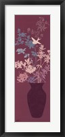 Mauve Blossom Vase Framed Print