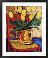 Framed Yellow Tulips