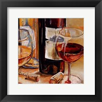Framed Red Wine for Two
