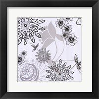 White Shadow  Lace Framed Print
