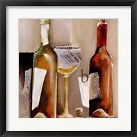 """Framed Vino Bianco """"B"""""""