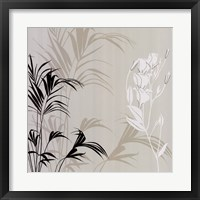 Framed White Flower Fern