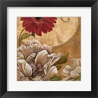 Framed Floral Aura I