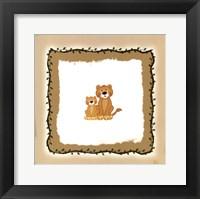 Lion Cubs Framed Print
