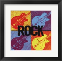 Framed Rock Guitars