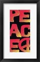 Peace - Retro Framed Print