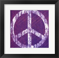 Framed Purple Peace