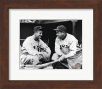 Framed Lou Gehrig & Babe Ruth Posed