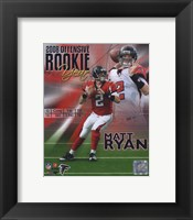 Framed Matt Ryan 2008 Rookie of the Year Portrait Plus