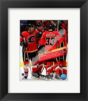 Framed Jarome Iginla 832nd career point to become Flames All-Time leadign scorer 2008-09