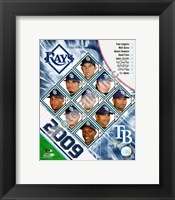 Framed 2009 Tampa Bay Rays Team Composite