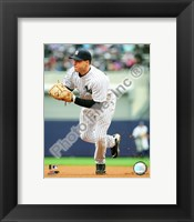 Framed Mark Teixeira 2009 Fielding Action