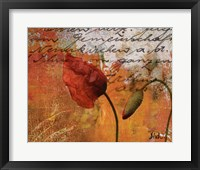 Poppies Composition II Framed Print