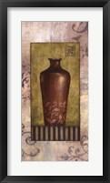 Maroon Vessel Framed Print