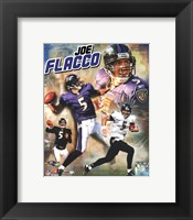 Framed Joe Flacco 2009 Portrait Plus