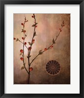 Fall Stems in the  Warmth Framed Print