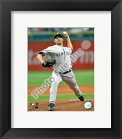 Framed Andy Pettitte 2009 Pitching Action