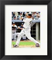 Framed Melky Cabrera - 2009 Batting Action