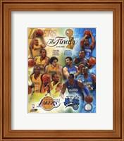 Framed '09 NBA Finals Match Up - Lakers / Magic